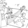 Coloriage Tennis 26