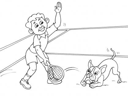 Coloriage Tennis 28