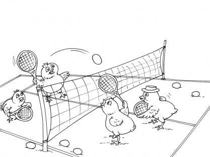 Coloriage Tennis 29