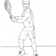 Coloriage Tennis 4
