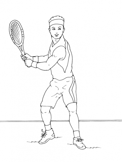 Coloriage Tennis 4