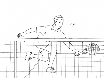Coloriage Tennis 5