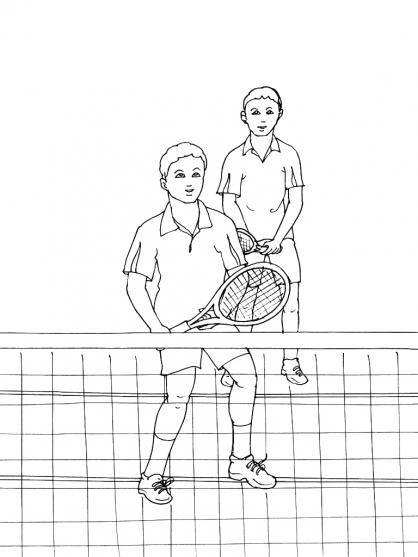 Coloriage Tennis 6