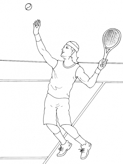 Coloriage Tennis 9