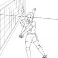 Coloriage Volley 1
