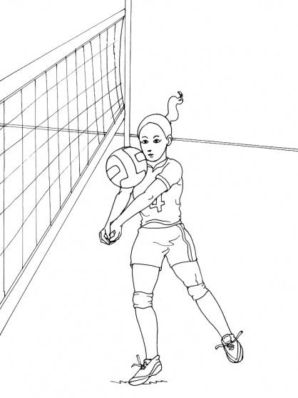 Coloriage Volley 1