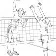 Coloriage Volley 10