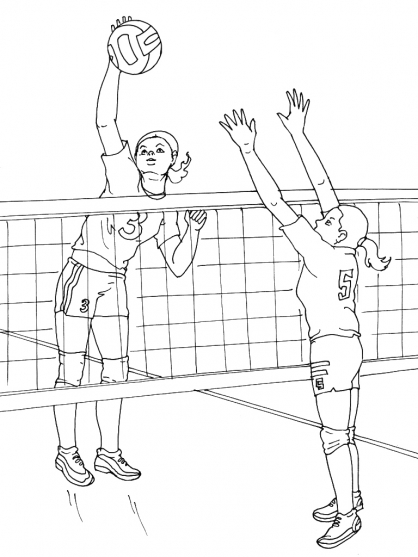 Coloriage Volley 10