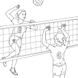 Coloriage Volley 11