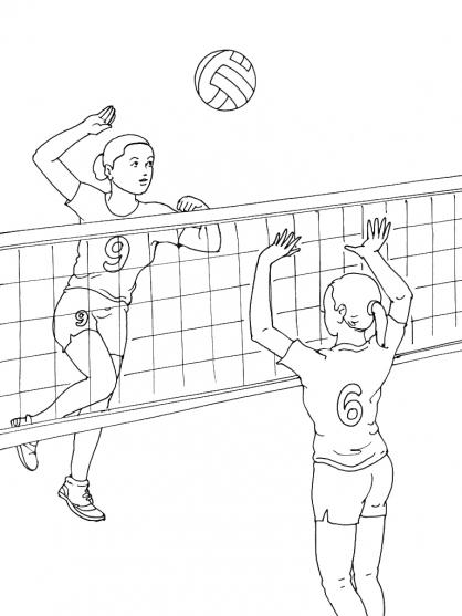 Coloriage Volley 11