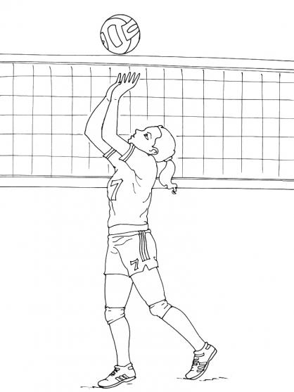 Coloriage Volley 12