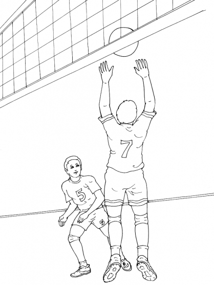 Coloriage Volley 13