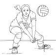 Coloriage Volley 14
