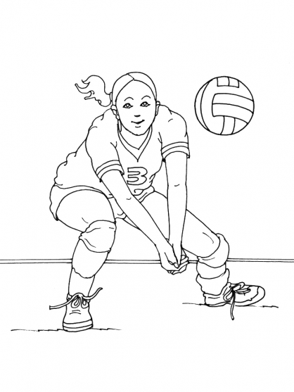 Coloriage Volley 14