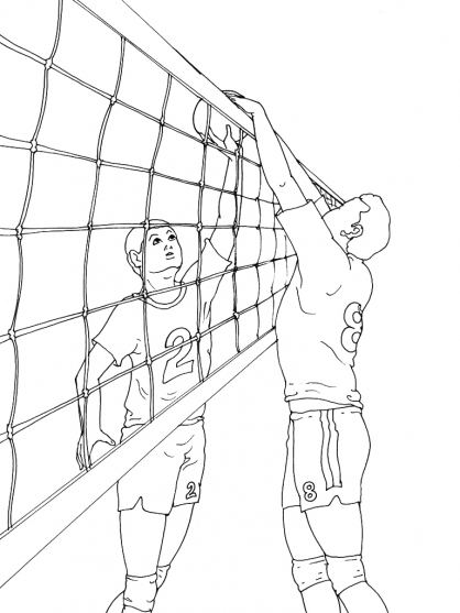 Coloriage Volley 15
