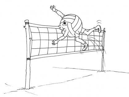 Coloriage Volley 16