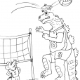Coloriage Volley 18
