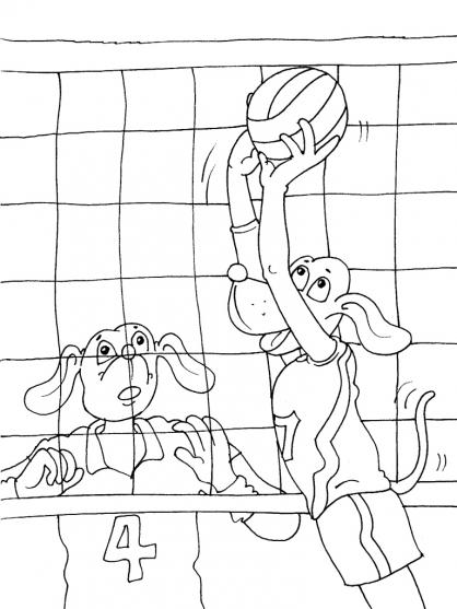 Coloriage Volley 19