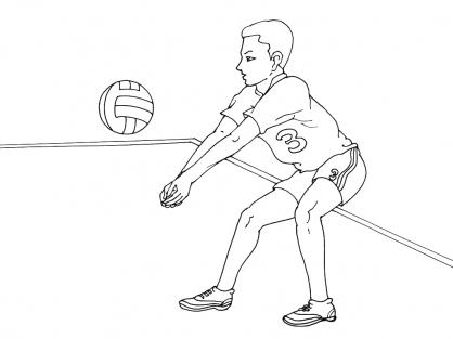 Coloriage Volley 2