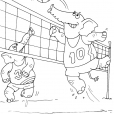 Coloriage Volley 20