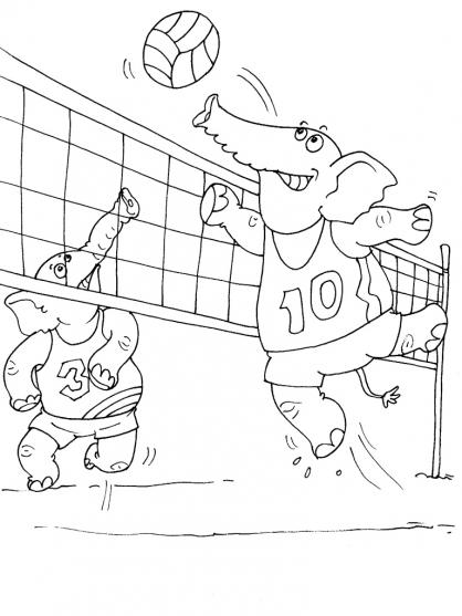 Coloriage Volley 20