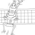 Coloriage Volley 21