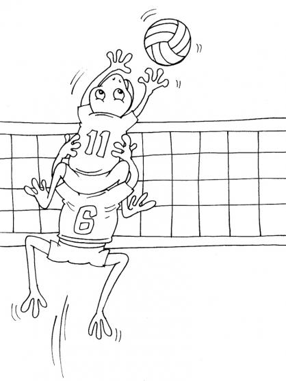 Coloriage Volley 21