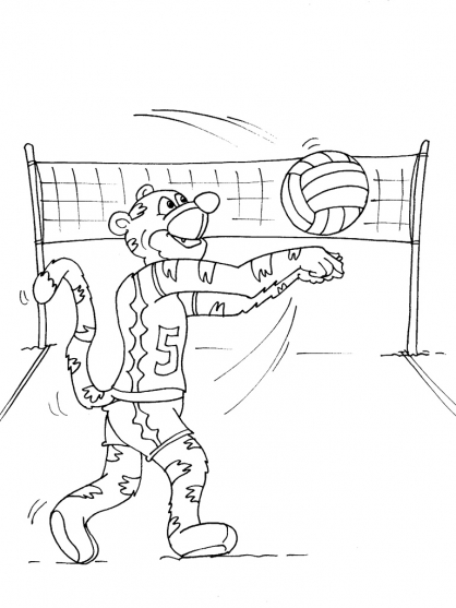 Coloriage Volley 23