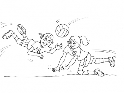 Coloriage Volley 24