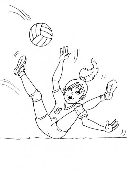 Coloriage Volley 26