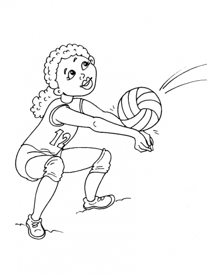 Coloriage Volley 27