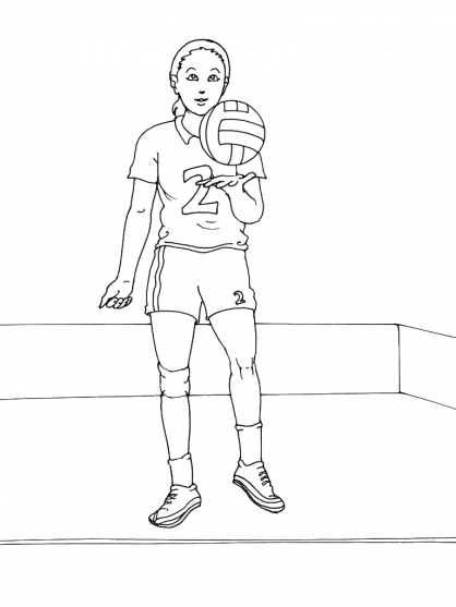 Coloriage Volley 3