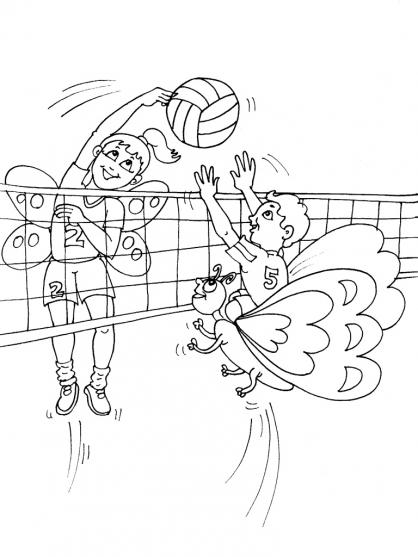 Coloriage Volley 30