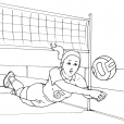 Coloriage Volley 5