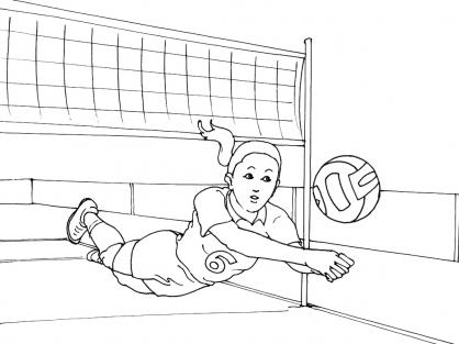 Coloriage Volley 5