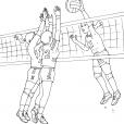 Coloriage Volley 6