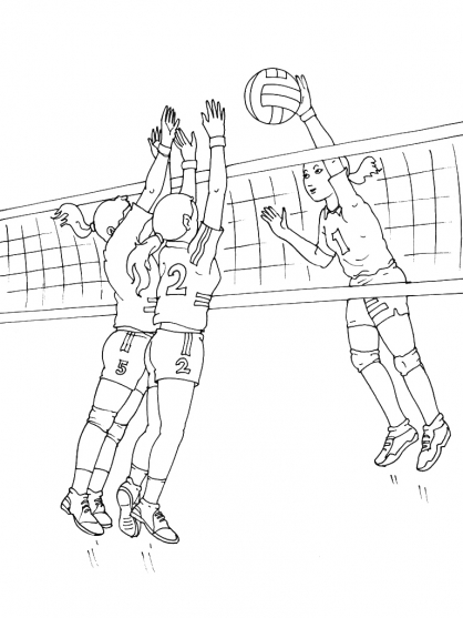 Coloriage Volley 6