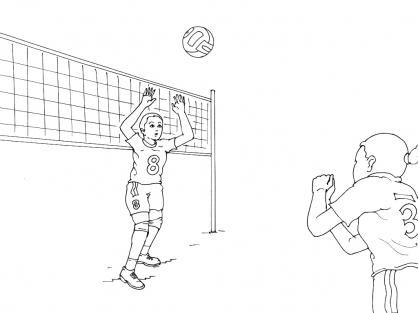 Coloriage Volley 7