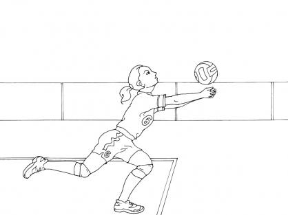 Coloriage Volley 8