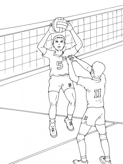 Coloriage Volley 9