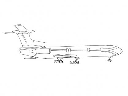 Coloriage Avion 10