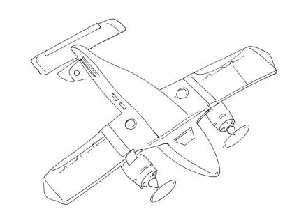 Coloriage Avion 11