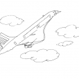 Coloriage Avion 13