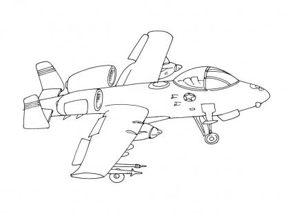 Coloriage Avion 15