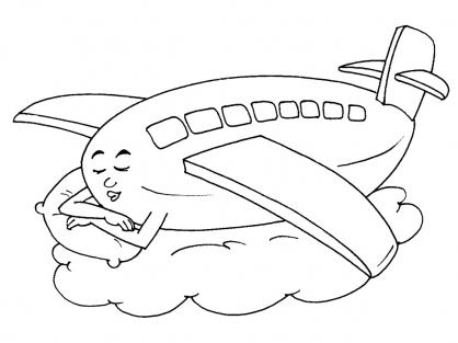 Coloriage Avion 16