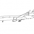 Coloriage Avion 2