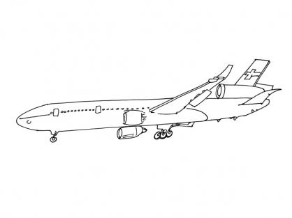 Coloriage Avion 2