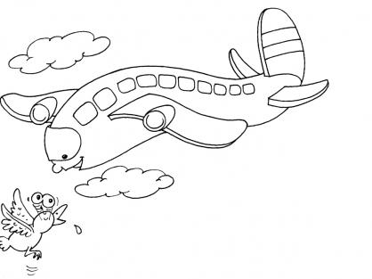 Coloriage Avion 22