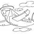 Coloriage Avion 23