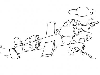 Coloriage Avion 27